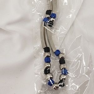 Jewelry - Unisex Necklace Blue, Black & Silver